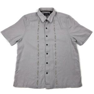 Nat Nast Embroidered Short Sleeve Button Up Medium